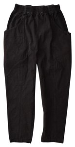 Elizabeth Suzann Made In Nashville Made In Usa Cotton Elastic Waist Relaxed Pants black