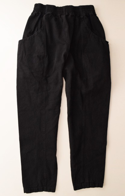 Elizabeth Suzann Made In Nashville Made In Usa Cotton Elastic Waist Relaxed Pants black Image 1