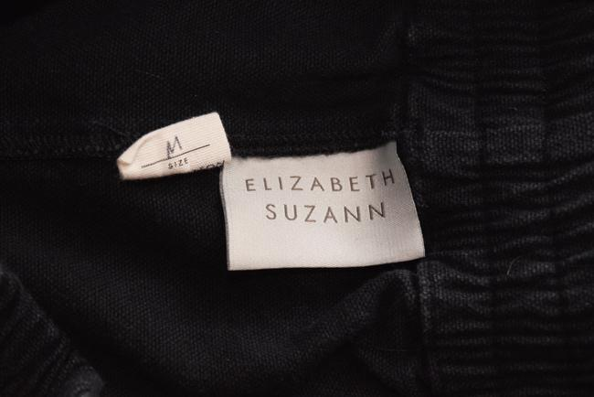 Elizabeth Suzann Made In Nashville Made In Usa Cotton Elastic Waist Relaxed Pants black Image 3