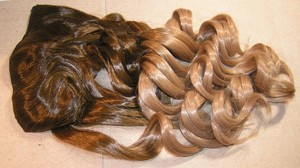 Reduced! Brown To Blonde Full Head Hair Extension Free Shipping