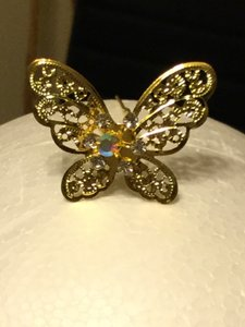 Gold Butterfly Hair Pins