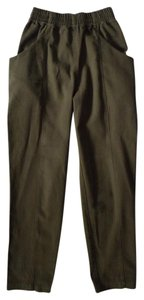 Elizabeth Suzann Clyde Made In Nashville Made In Usa Cotton Straight Pants green