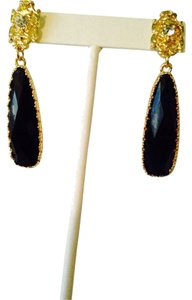 Amrita Singh Tino Island Faceted Black Earrings