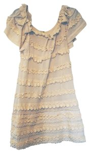 Leifsdottir short dress Cream Lace Trim Lace on Tradesy
