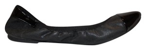 dexflex Comfort Patten Leather Low Heel Ballet Black Flats