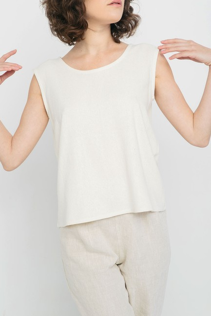 Elizabeth Suzann Raw Silk Made In Nashville Made In Usa Ethical Top beige Image 4