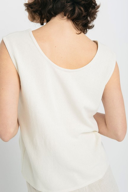 Elizabeth Suzann Raw Silk Made In Nashville Made In Usa Ethical Top beige Image 7