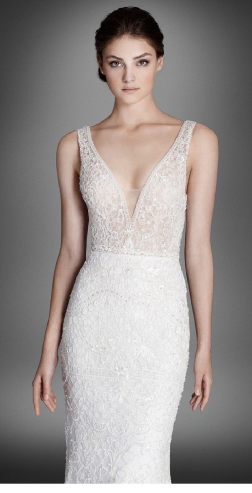 Lazaro Ivory Crystal Embroidered Lace Alexis Style Lz3558 Sexy