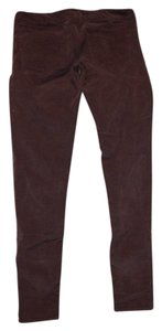 American Eagle Outfitters Corduroy Stretchy Pencil Skinny Pants burgandy