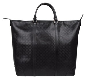 Gucci Leather Lux Diamante Tote in Black