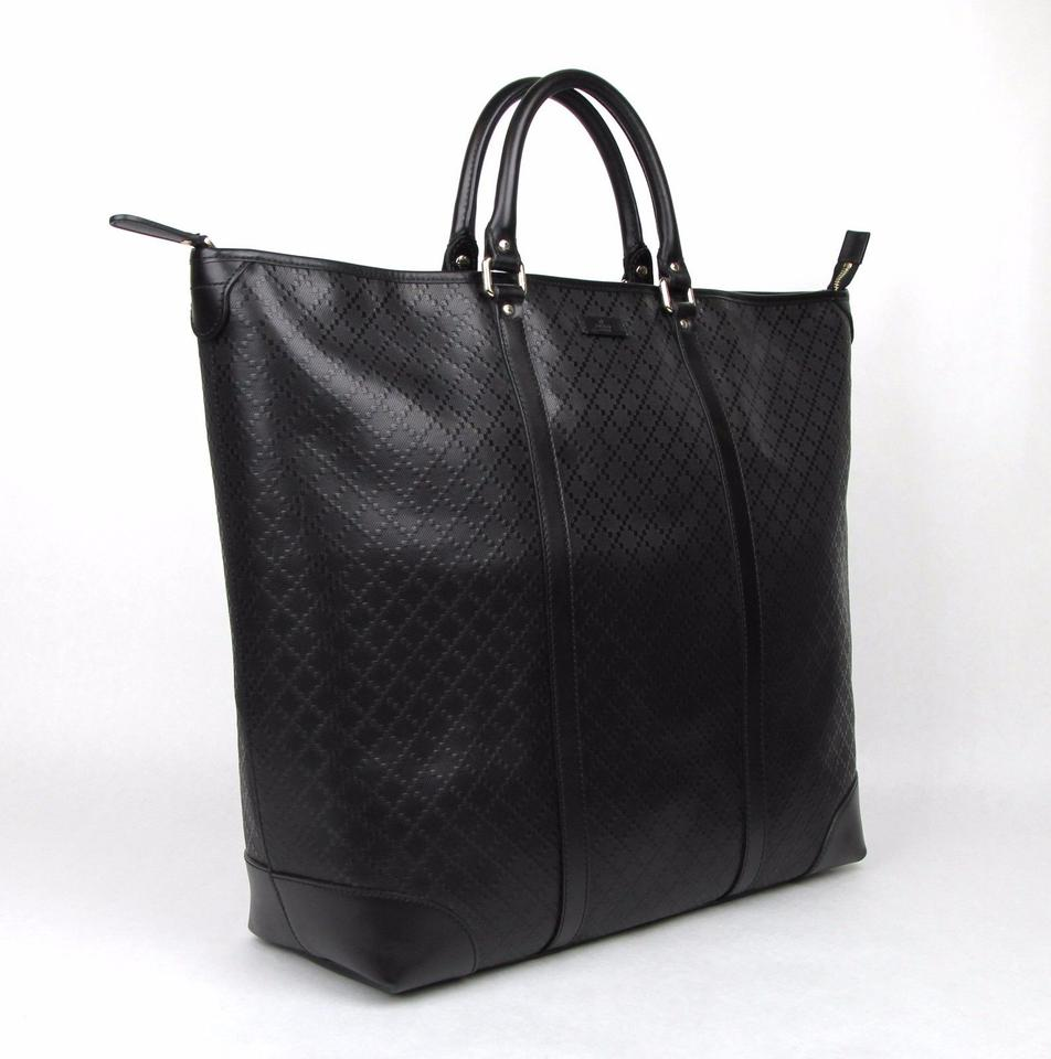 54304c8b8fe6 Gucci Lux Diamante Large Top Handle 308896 Black Leather Tote - Tradesy