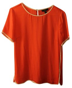 J.Crew Silk Draped Top Coral