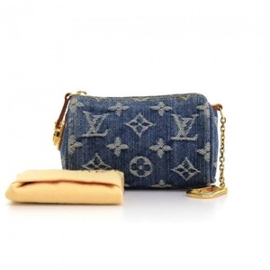 Louis Vuitton Lv Speedy Mini Monogram Denim Coin Pouch Clutch
