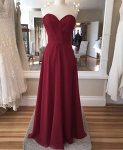 Allure Bridals Cerise Chiffon 1415 Formal Bridesmaid/Mob Dress Size 12 (L)