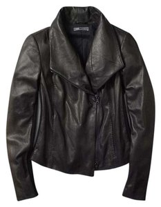 Vince Leather Scuba Lambskin Leather Jacket