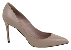 Gucci Dk Cipria Leather Pointed Dusk Pink Pumps