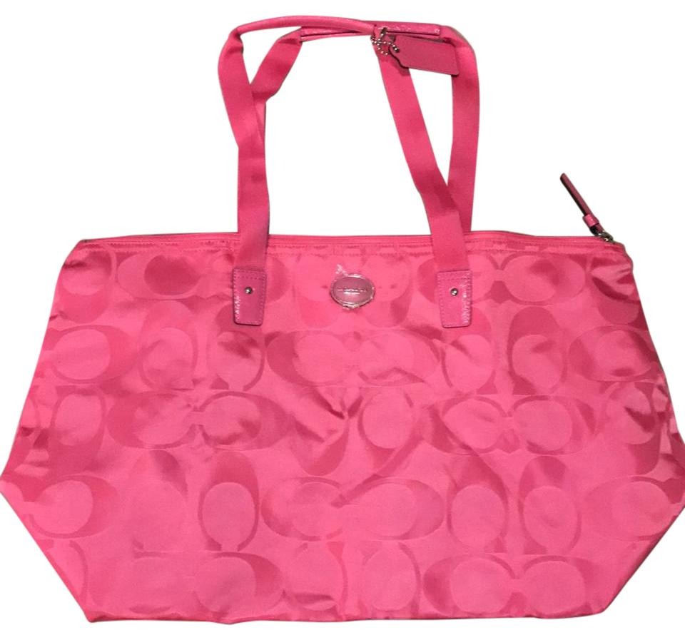bdbe48c65fdf Coach Sateen Pink Weekend Travel Bag - Tradesy