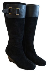 Aerosoles Wedge Leather Black suede Boots