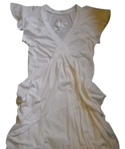 proof authentic short dress white Bubble Hem on Tradesy