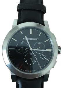 Burberry Burberry Leather Chronograph Mens Watch BU9356