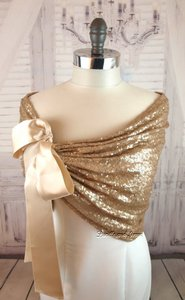 Gold Sequin Wedding Shawl