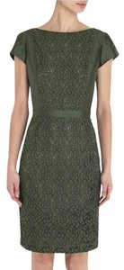 Tory Burch short dress Dark Green (Douglas Fir) Fir Lace Trim Silk on Tradesy