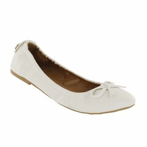 Red Circle Footwear White Flats