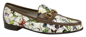 Gucci Women's Floral Canvas Horsebit Multi-Color Flats