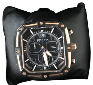 BRERA OROLOGI Brera 46mm Supersportivo Square Watch, Black/Rose Gold