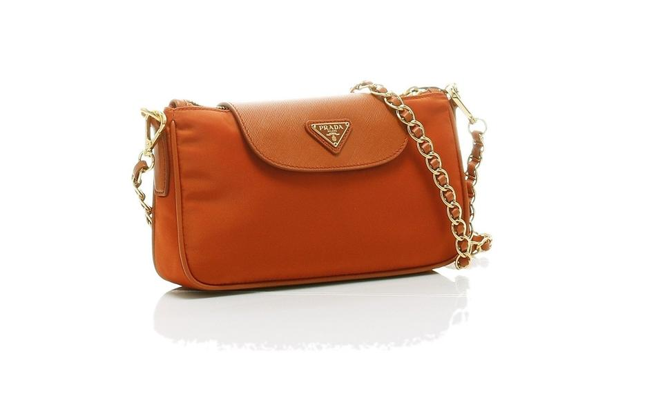 2984f879cee8 Prada Bt0779 Bandoliera Papaya Tessuto+saffiano Cross Body Bag - Tradesy