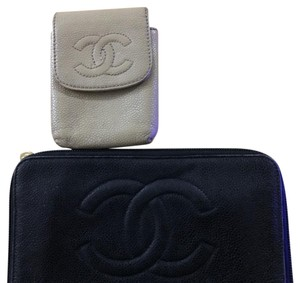 Chanel chanel caviar leather wallet and card pouch or iPhone 4 case two sets