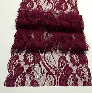 Burgundy Lace Wedding Table Runners