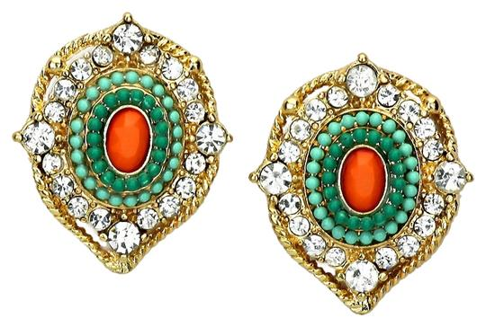 Preload https://item2.tradesy.com/images/mint-coral-clear-victorian-crystal-accent-green-stud-earrings-2042996-0-0.jpg?width=440&height=440