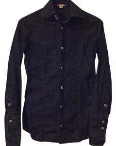 True Religion Button Down Shirt Blue