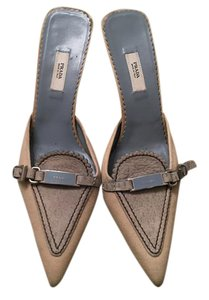 Prada Beige and blue Mules