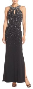 Eliza J Pearl Cut-out Crystal Formal Dress