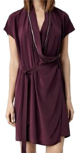 AllSaints short dress maroon/purple on Tradesy