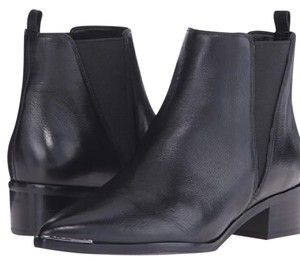 MARC FISHER LTD Yale Leather Chelsea Boots Black Boots