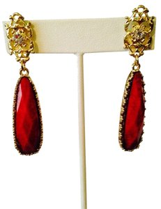 Amrita Singh Tino Island Faceted Red Earrings