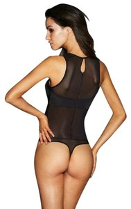 Frederick's of Hollywood FREDERICK'S OF HOLLYWOOD BLACK MESH BETTINA TEDDY M NWT BODYSUIT NEW
