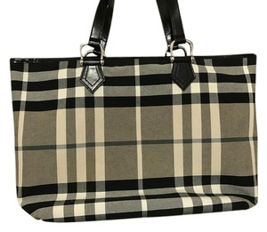Burberry Tote in Black and White House Check