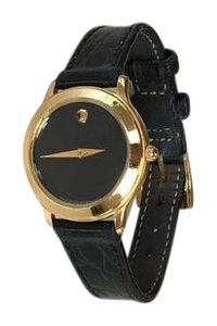 Movado MOVADO Gold/Black Ladies Watch
