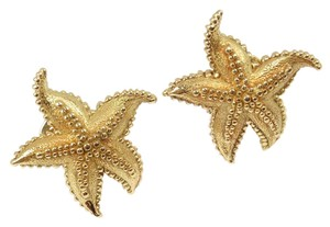 Tiffany & Co. Vintage Tiffany & Co 18K Yellow Gold LARGE Textured Starfish Earrings