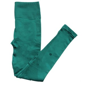 Lululemon Tights Forage Teal Leggings