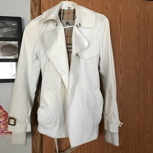 Burberry ivory Womens Jean Jacket