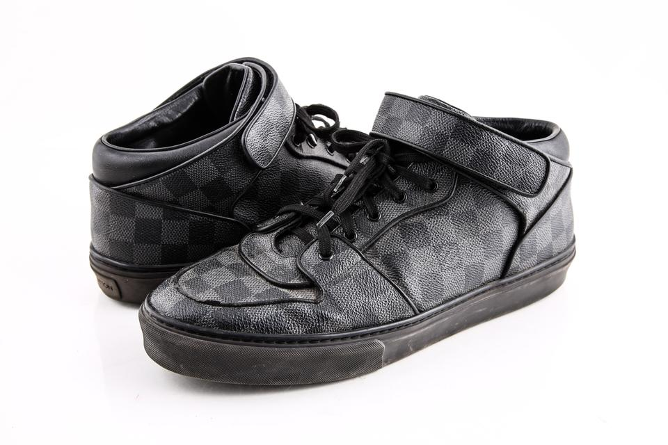 8acb0131e017 Louis Vuitton Black Damier Graphite High-top Sneakers Boots Booties ...