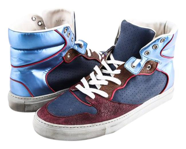 Item - Multicolor Patchwork High-top Sneakers Boots/Booties Size US 9.5 Regular (M, B)