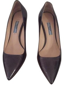 Prada patent slate or gray Pumps