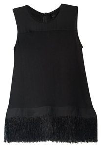 J.Crew Fringe Hem Top black
