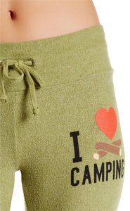 Wildfox Camping Heart Love Athletic Pants MOSS GREEN